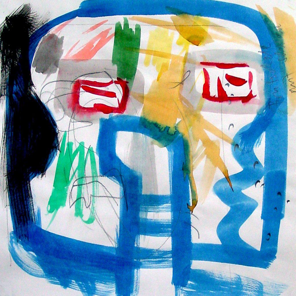 Skizze Blauer Träumer