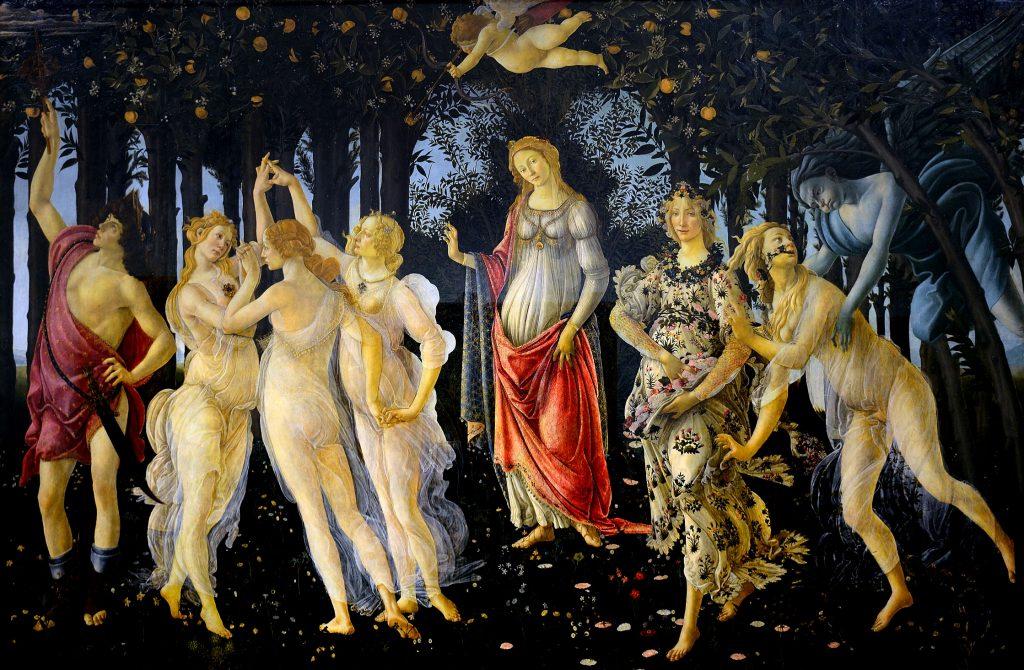 Sandro Botticelli: «La Primavera», 1484. Uffizi, Florenz