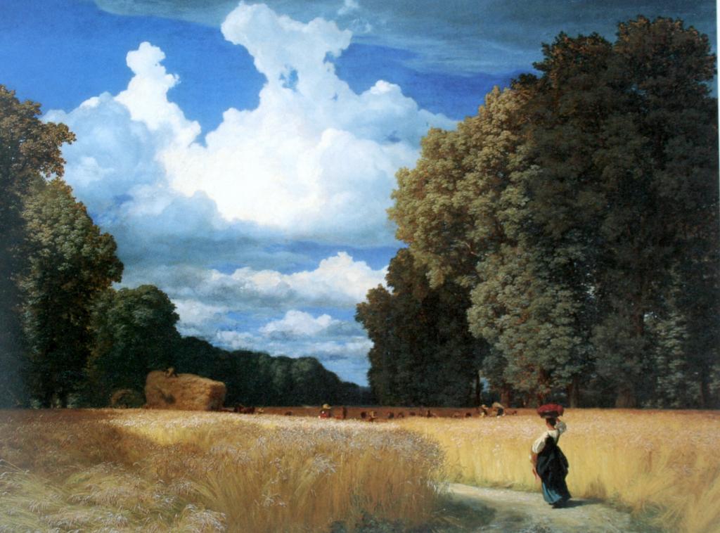 Die Ernte, Gemälde von Robert Zünd, 1860. Kunstmuseum Basel, Sammlung.